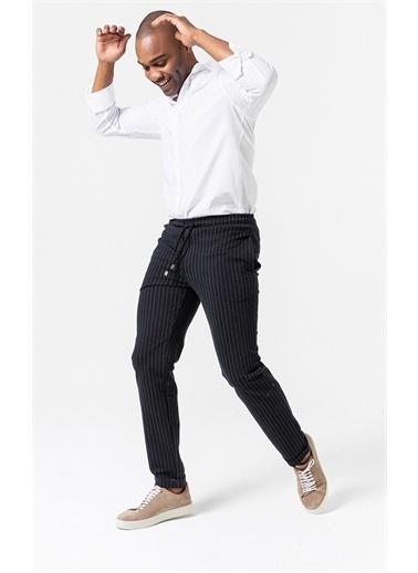 Boris Becker Çizgili Örme Jogger Pantolon Lacivert